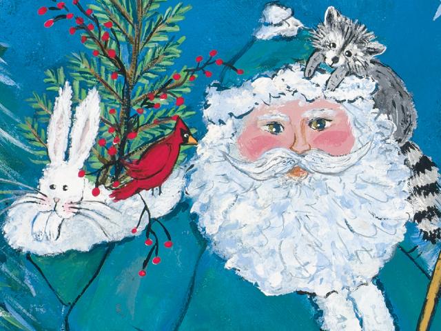-Woodland Santa